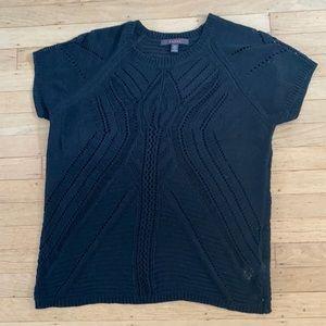Knit black short sleeve sweater XL Fever